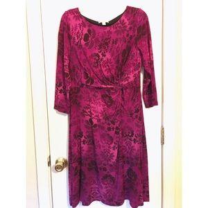 ❗️SALE❗️Dana Buchman Purple & Pink Pattern Dress